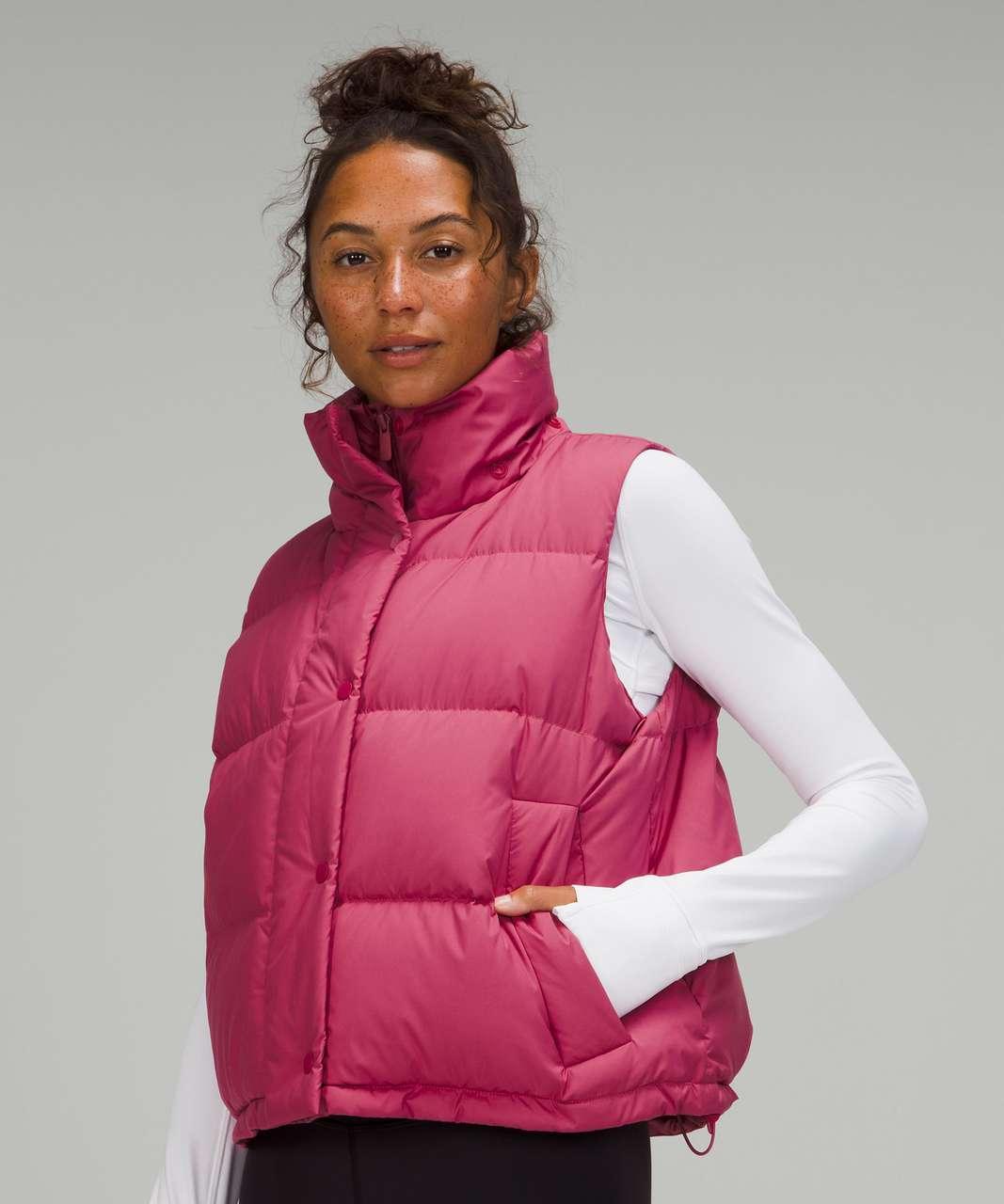 Lululemon Wunder Puff Crop Vest - Pink Lychee