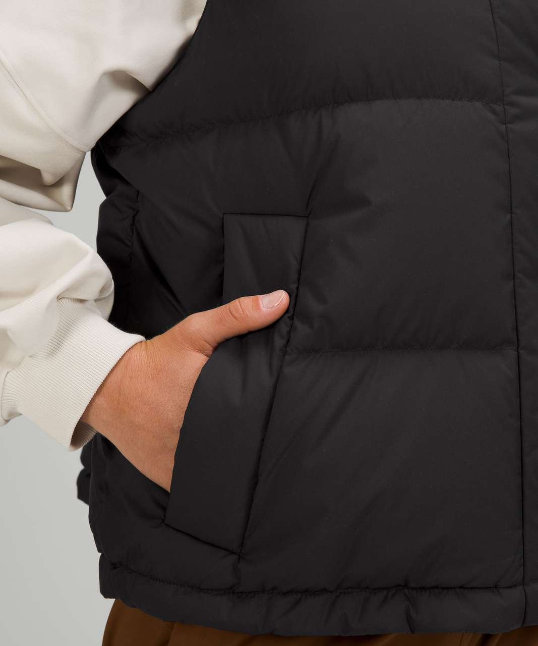 Lululemon Wunder Puff Crop Vest - Black