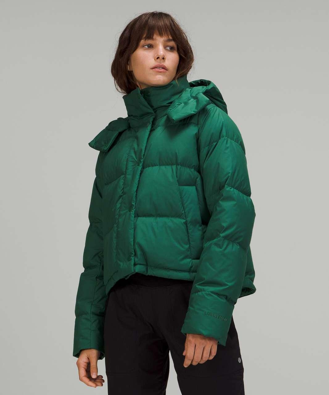 Lululemon Wunder Puff Cropped Jacket - Everglade Green