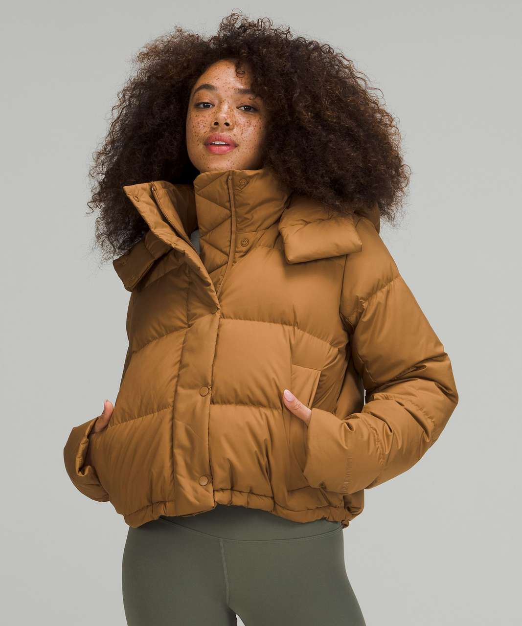Lululemon Wunder Puff Cropped Jacket - Bold Beige