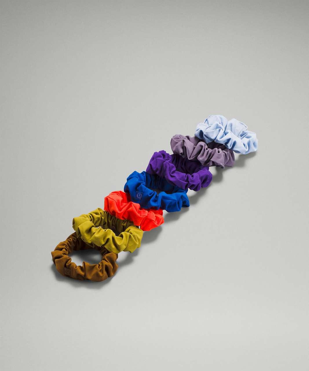 Lululemon Uplifting Scrunchie *7 Pack - Copper Brown / Auric Gold / Autumn Red / Symphony Blue / Petrol Purple / Dusky Lavender / Blue Linen