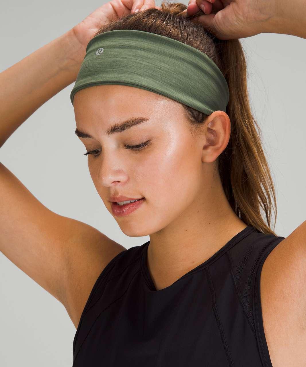 Lululemon Wunder Train Headband - Heathered Green Twill
