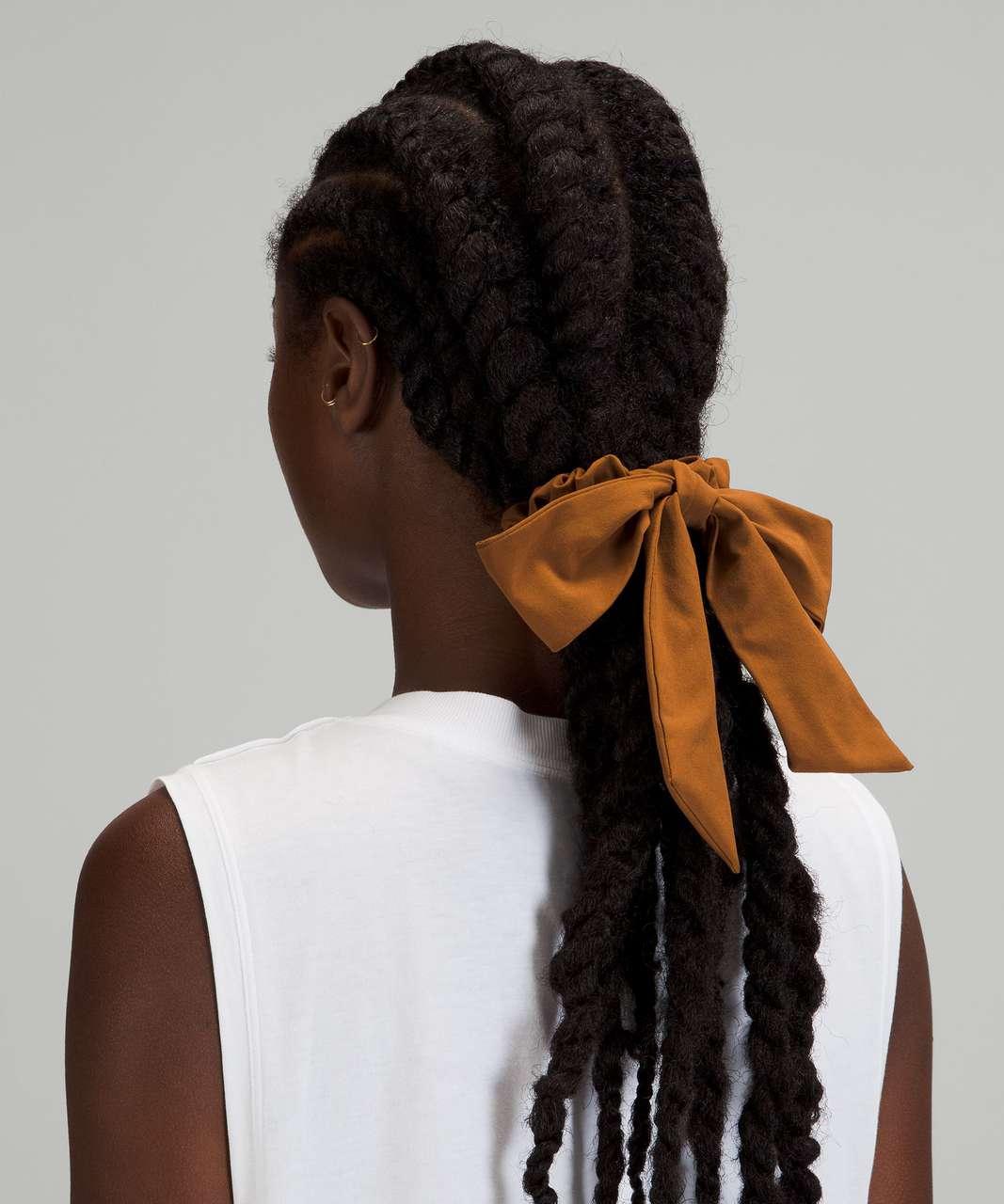 Lululemon Uplifting Scrunchie *Big Bow - Copper Brown