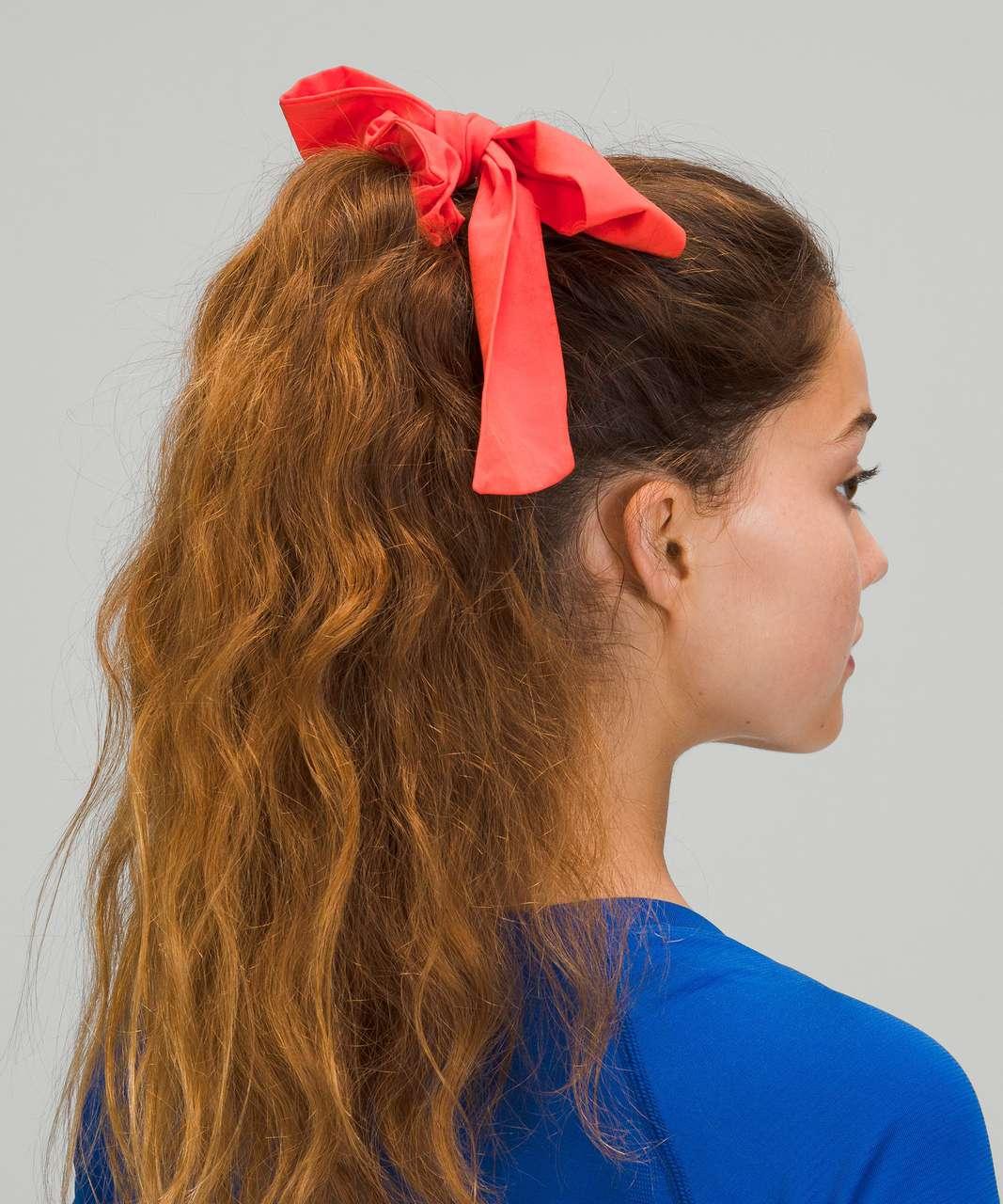 Lululemon Uplifting Scrunchie *Big Bow - Autumn Red