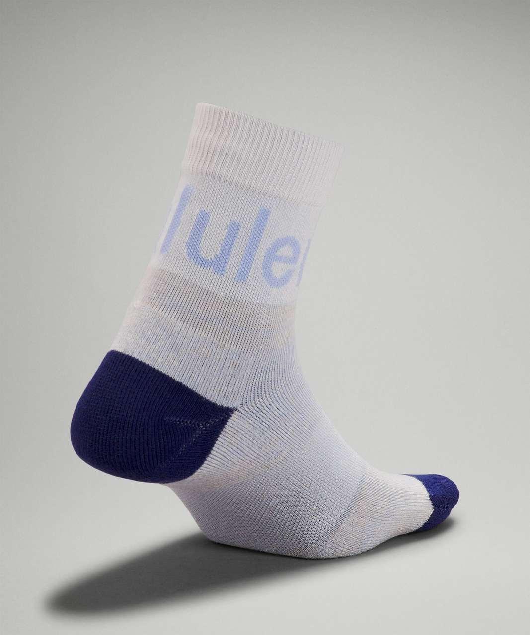 Lululemon Daily Stride Mid-Crew Sock - Blue Linen