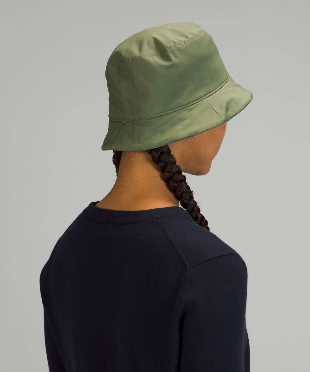 Lululemon Reversible Quilted Bucket Hat - Green Twill