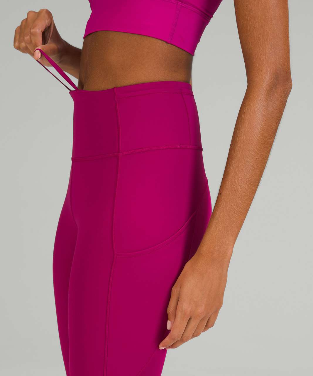 """Lululemon Fast and Free High-Rise Crop 19"""" - Wild Berry"""
