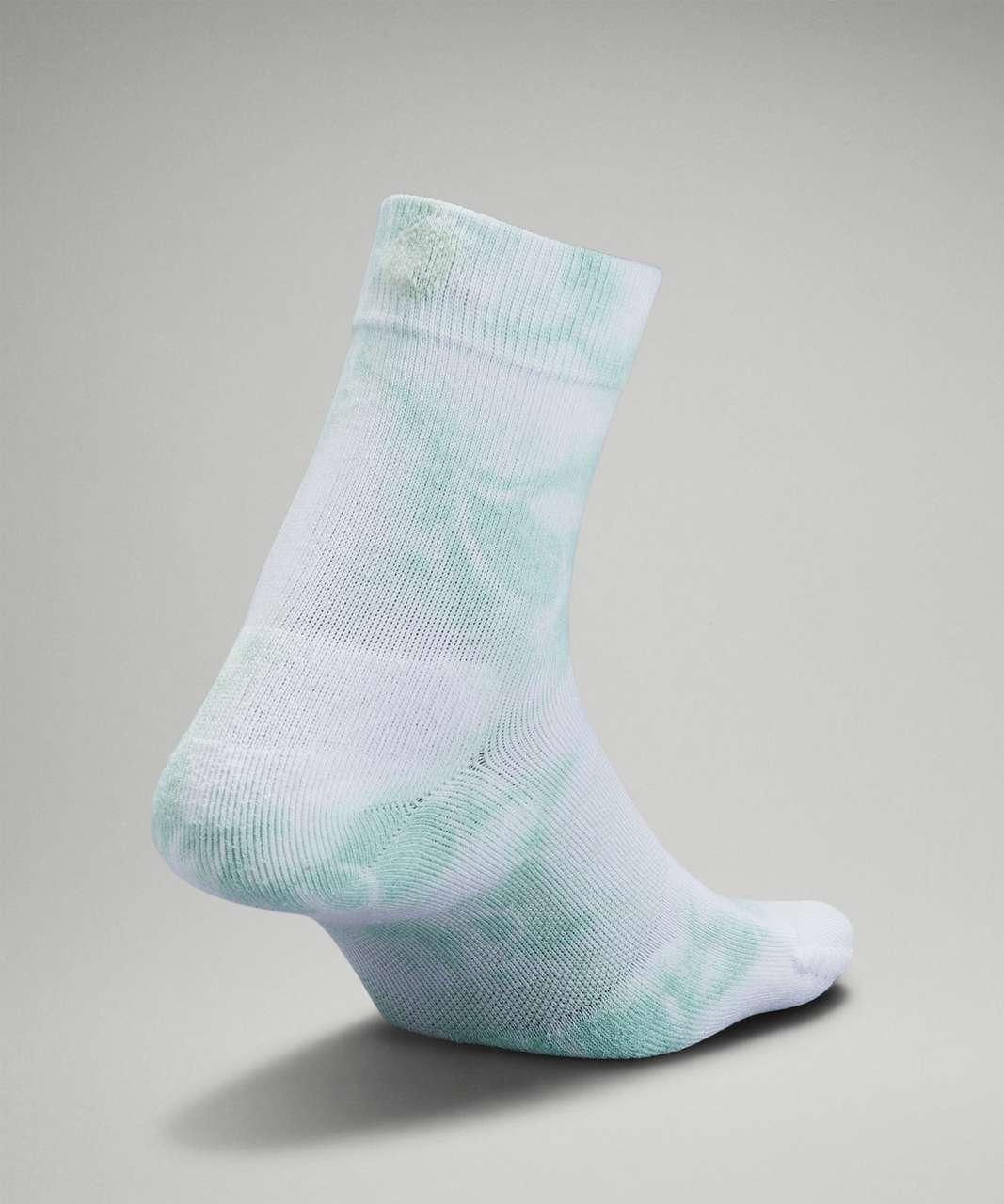 Lululemon Daily Stride Mid-Crew Tie Dye Sock - Delicate Mint