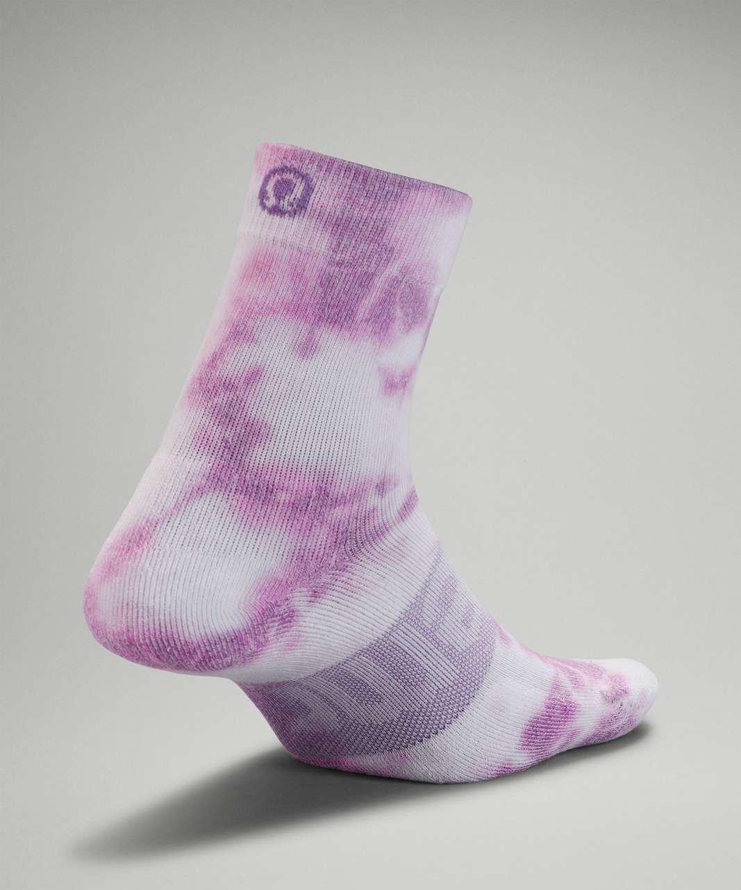 Lululemon Daily Stride Mid-Crew Tie Dye Sock - Wisteria Purple