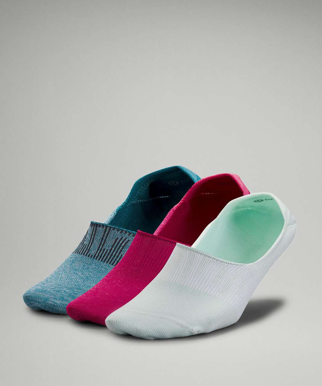 Lululemon Daily Stride No Show Sock *3 Pack - Delicate Mint / Pink Lychee / Capture Blue
