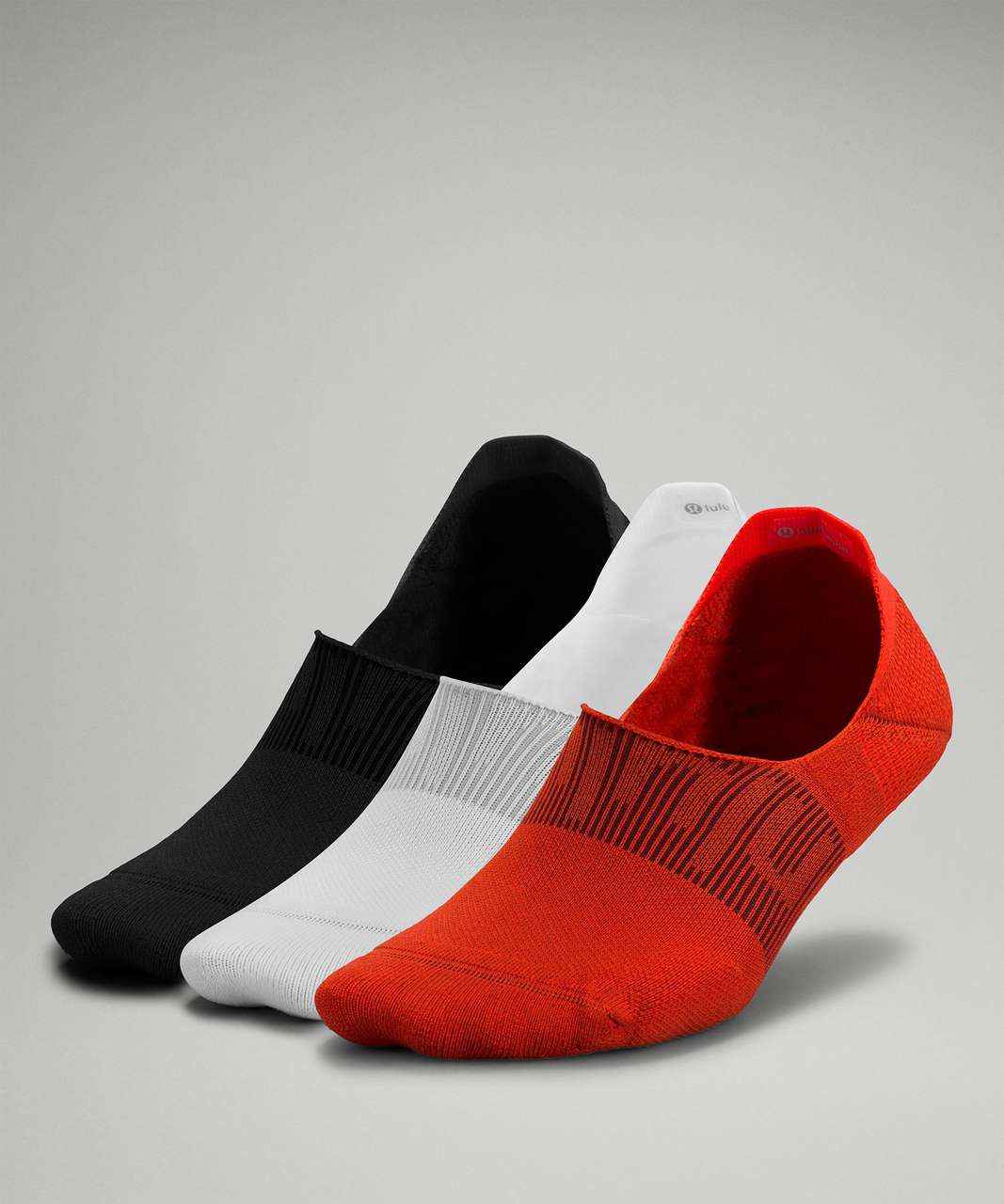 Lululemon Power Stride No-Show Sock with Active Grip *3 Pack - Autumn Red / White / Black
