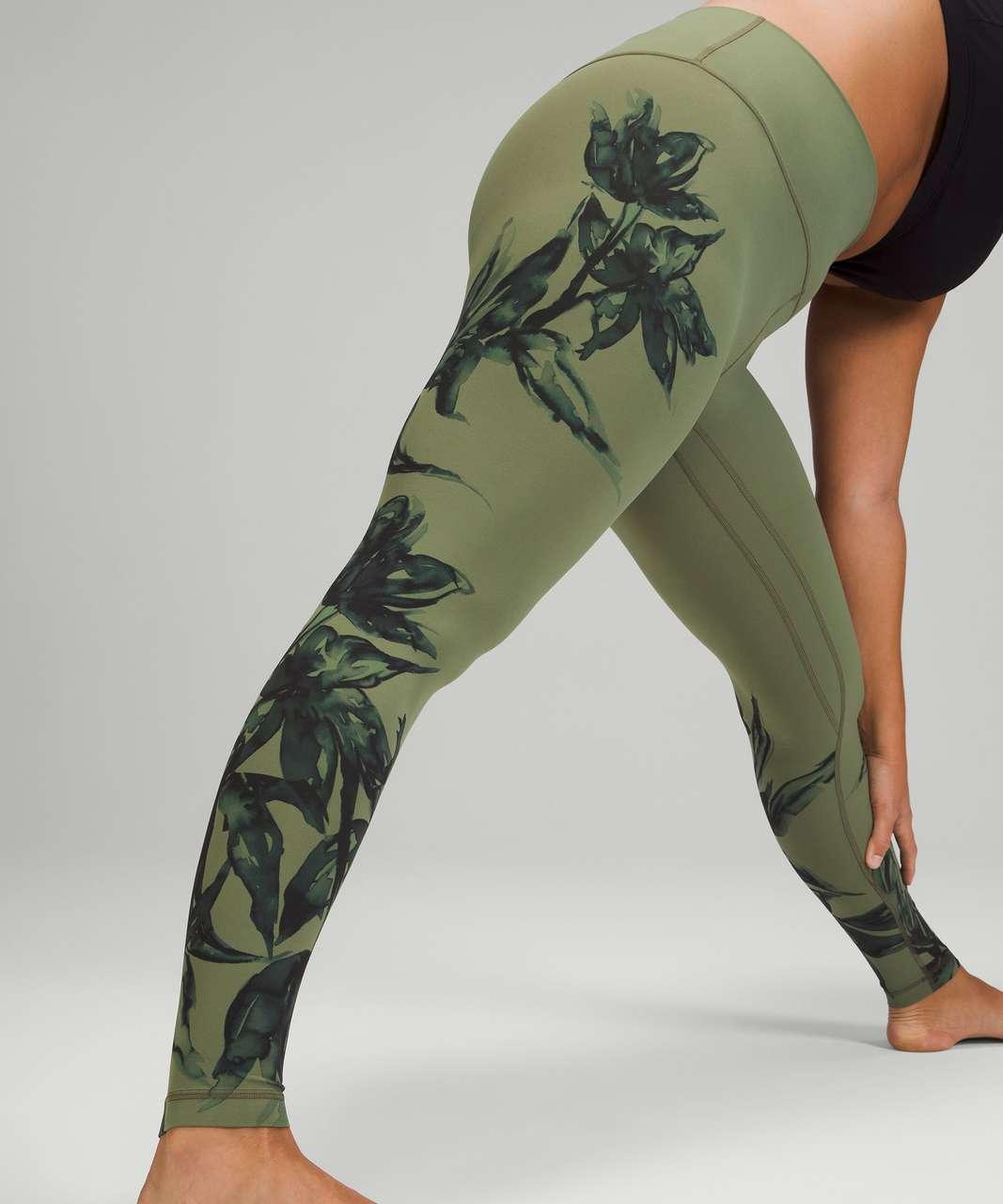 "Lululemon Align High-Rise Pant 28"" - Botanical Bloom Green Twill Multi"