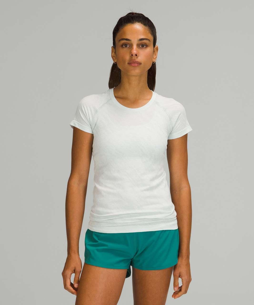 Lululemon Swiftly Tech Short Sleeve Shirt 2.0 - Mesh Camo Ocean Air / White