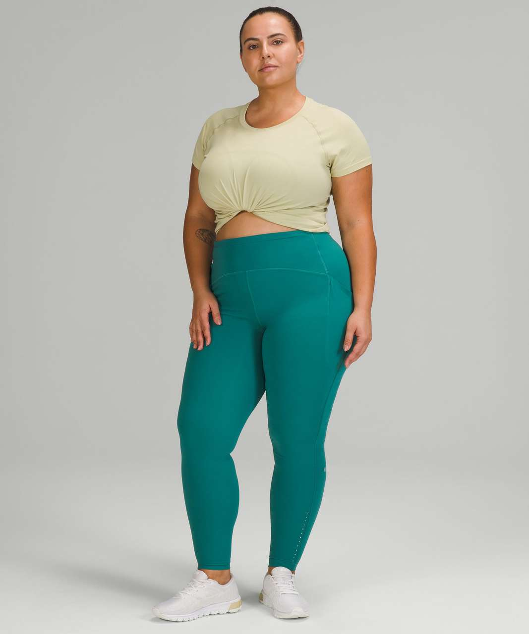 Lululemon Swiftly Tech Short Sleeve Shirt 2.0 - Dew Green / Dew Green