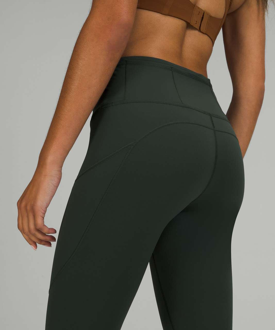 """Lululemon Fast and Free High-Rise Tight 28"""" *Brushed Nulux - Rainforest Green"""