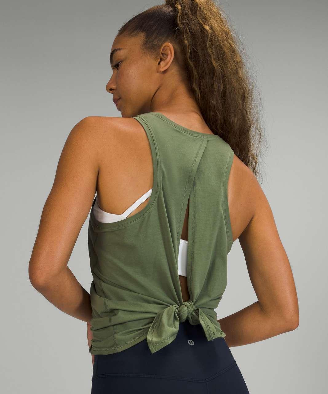 Lululemon All Tied Up Tank Top *Pima Cotton - Green Twill
