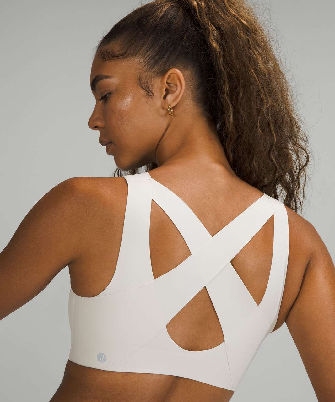 Lululemon Enlite Bra Zip Front *High Support, A–E Cups - White Opal
