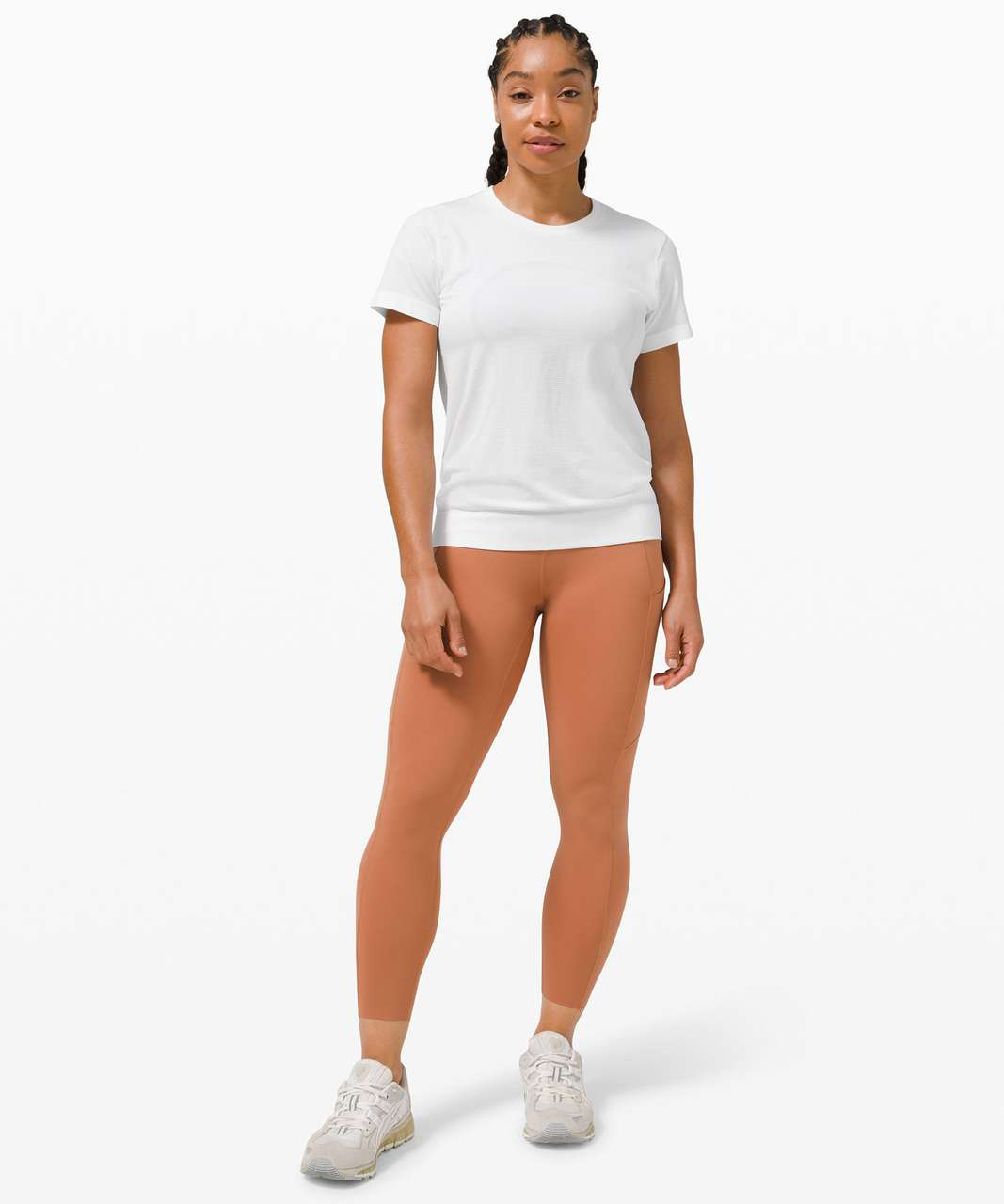 Lululemon Swiftly Breathe Short Sleeve Shirt - White / White