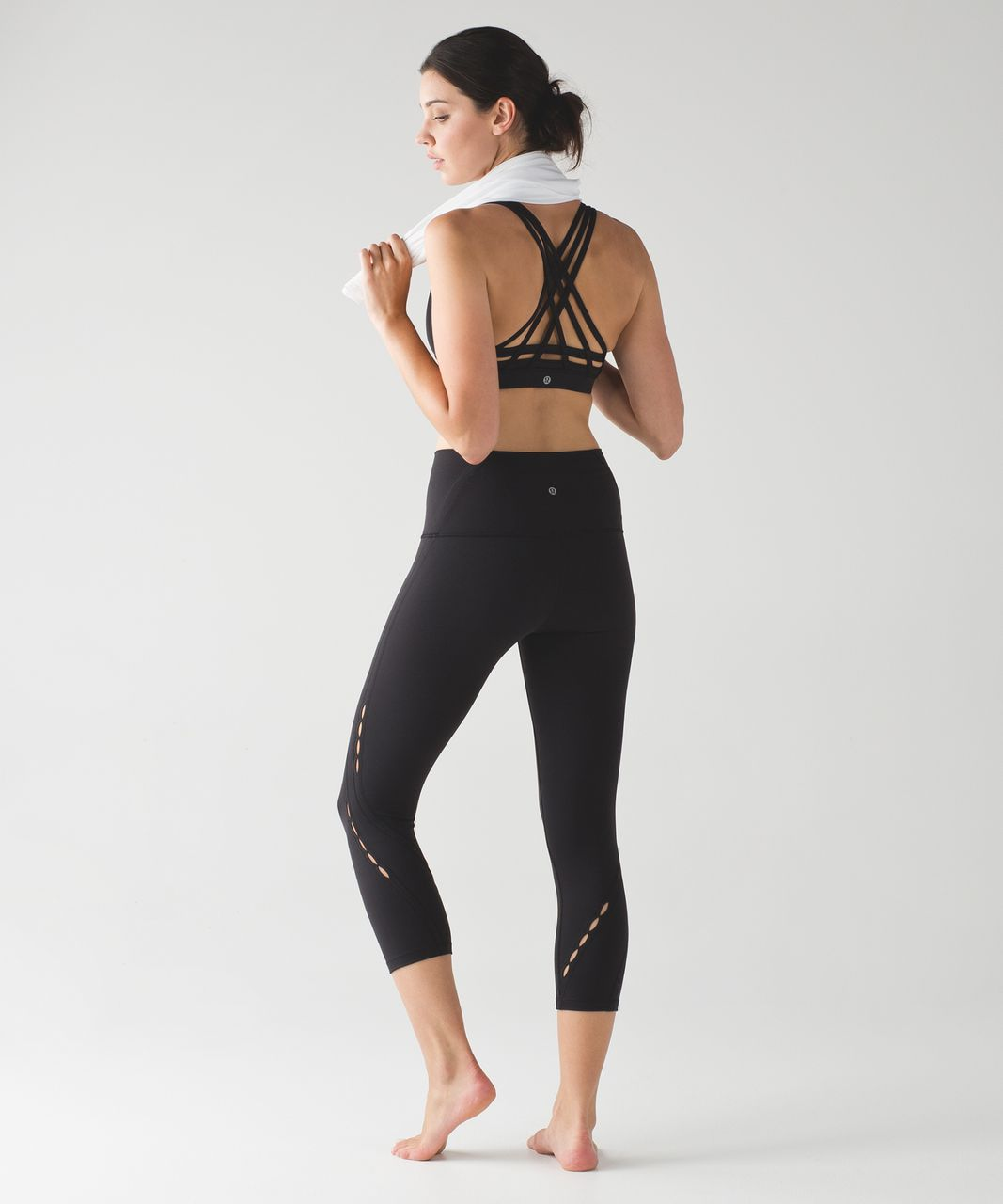 Lululemon Wunder Under Crop (Hi-Rise) (Peek) - Black