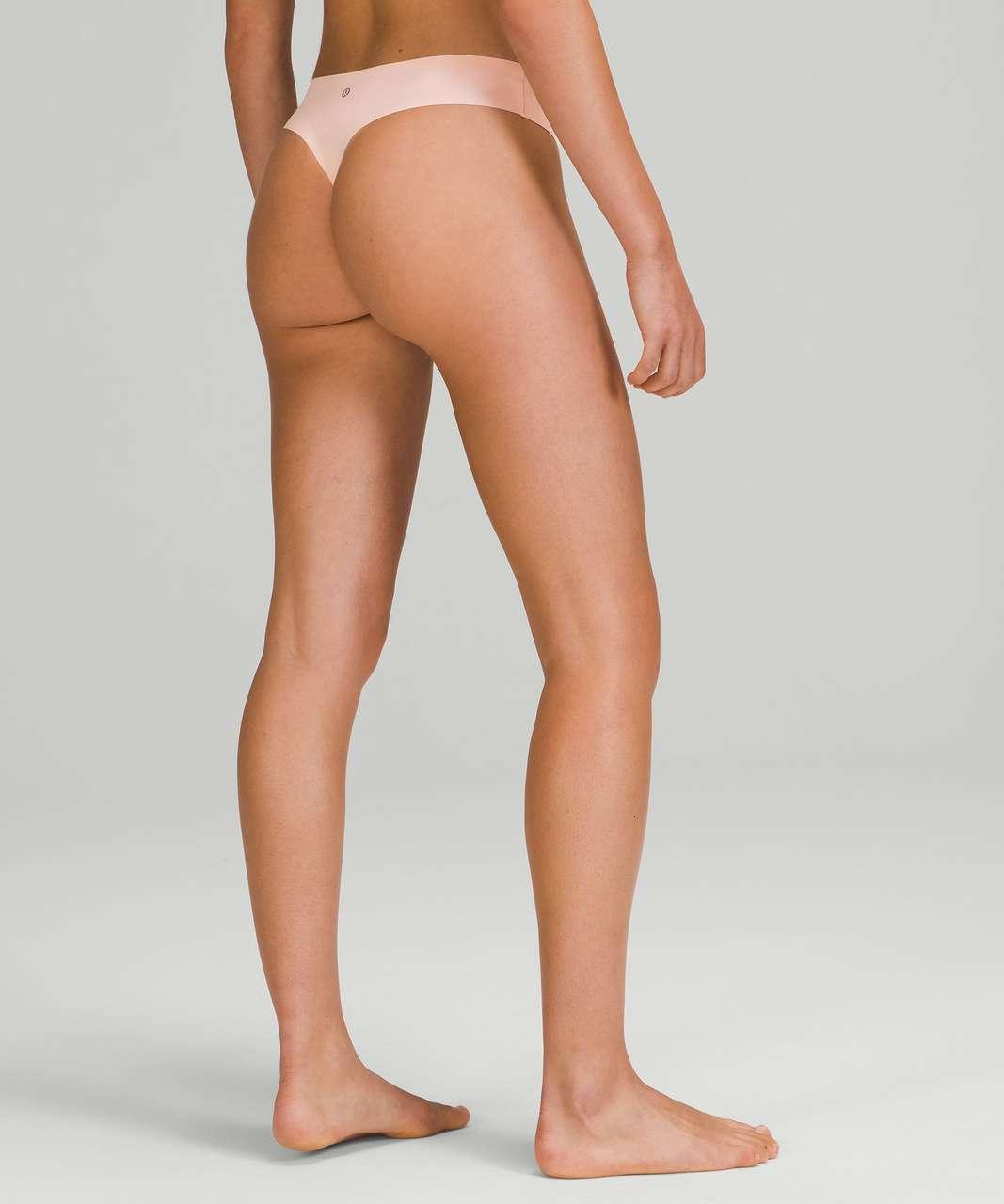 Lululemon InvisiWear Mid Rise Thong Underwear 3 Pack - Heritage 365 Camo Mini Rotated Pecan Tan Multi / Pink Mist / Black