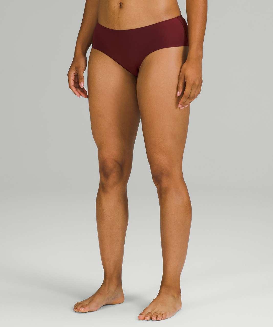 Lululemon InvisiWear Mid Rise Hipster Underwear - Red Merlot