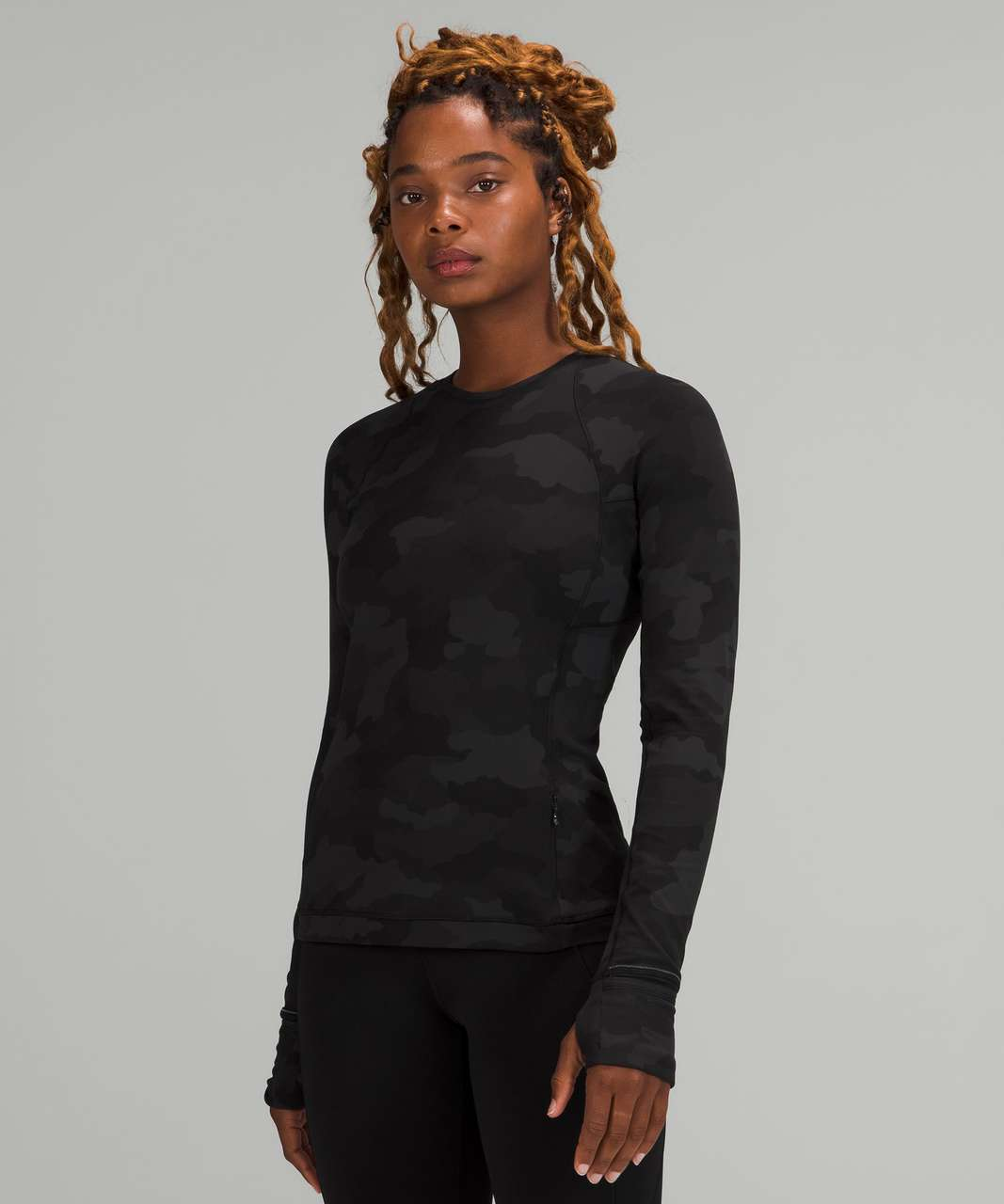 Lululemon Its Rulu Run Long Sleeve Shirt - Heritage 365 Camo Deep Coal Multi