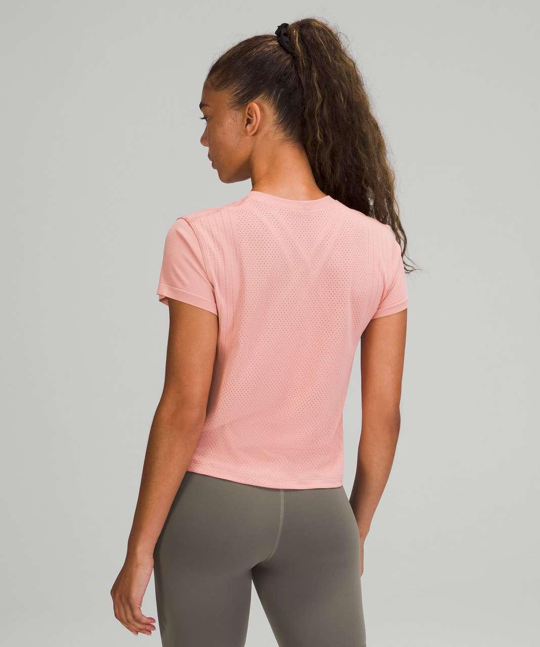 Lululemon Train to Be Short Sleeve Shirt - Pink Puff / Pink Puff