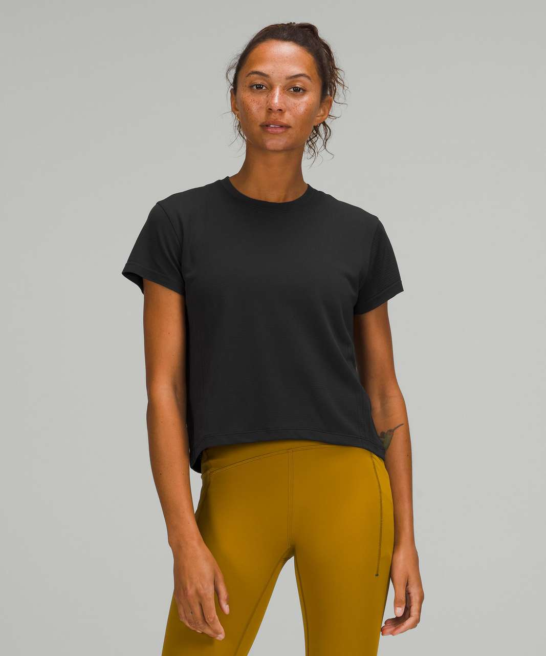 Lululemon Train to Be Short Sleeve Shirt - Black / Black