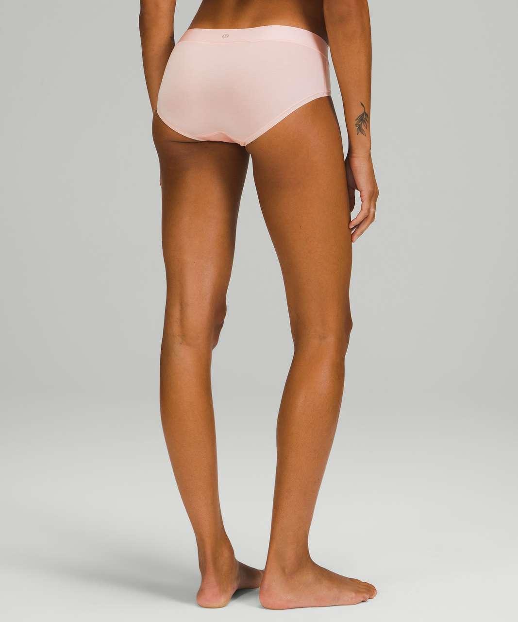 Lululemon UnderEase Mid Rise Hipster Underwear 3 Pack - Heritage 365 Camo Mini Pecan Tan Multi / Pink Mist / Black