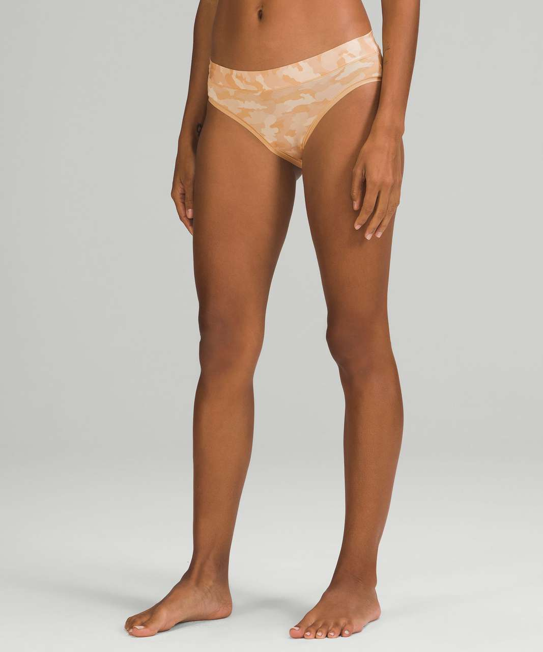 Lululemon UnderEase Mid Rise Cheeky Bikini Underwear 3 Pack - Heritage 365 Camo Mini Pecan Tan Multi / Pink Mist / Black