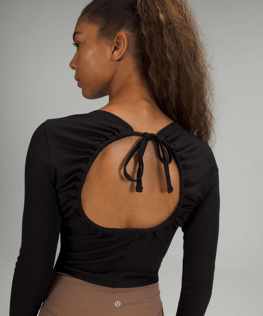 Lululemon Open Back Ribbed Long Sleeve Shirt - Black