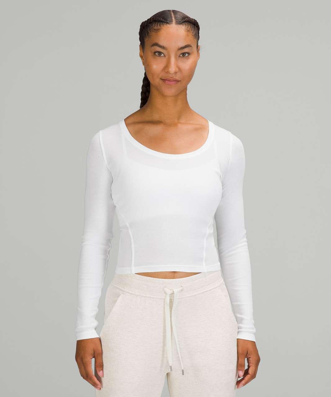 Lululemon Open Back Ribbed Long Sleeve Shirt - White