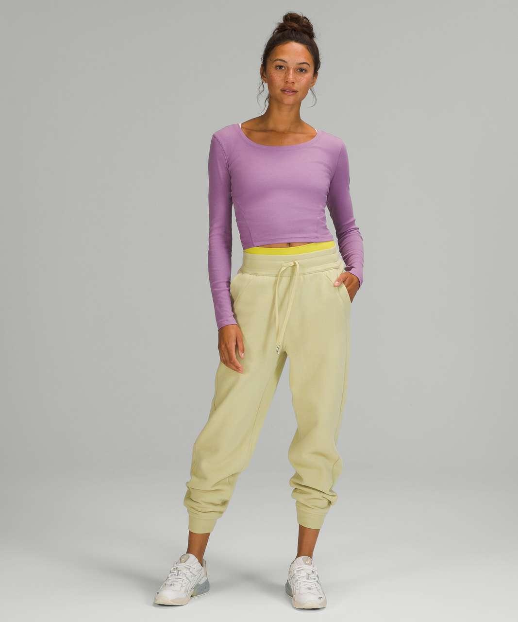 Lululemon Open Back Ribbed Long Sleeve Shirt - Wisteria Purple