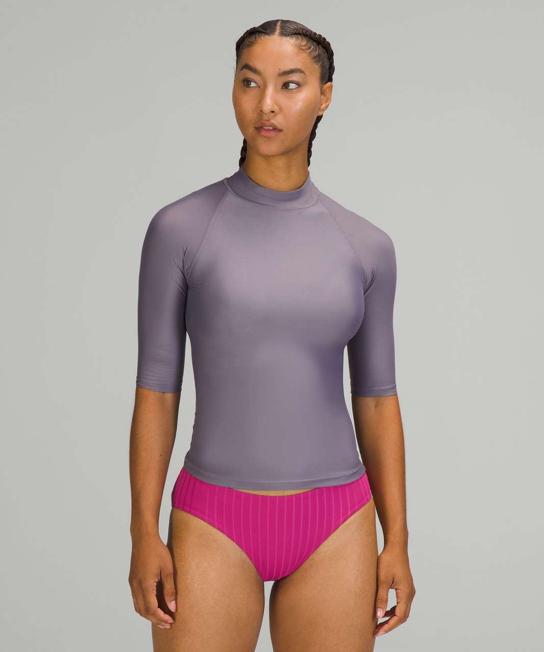 Lululemon Waterside UV Protection Short-Sleeve Rash Guard - Dusky Lavender