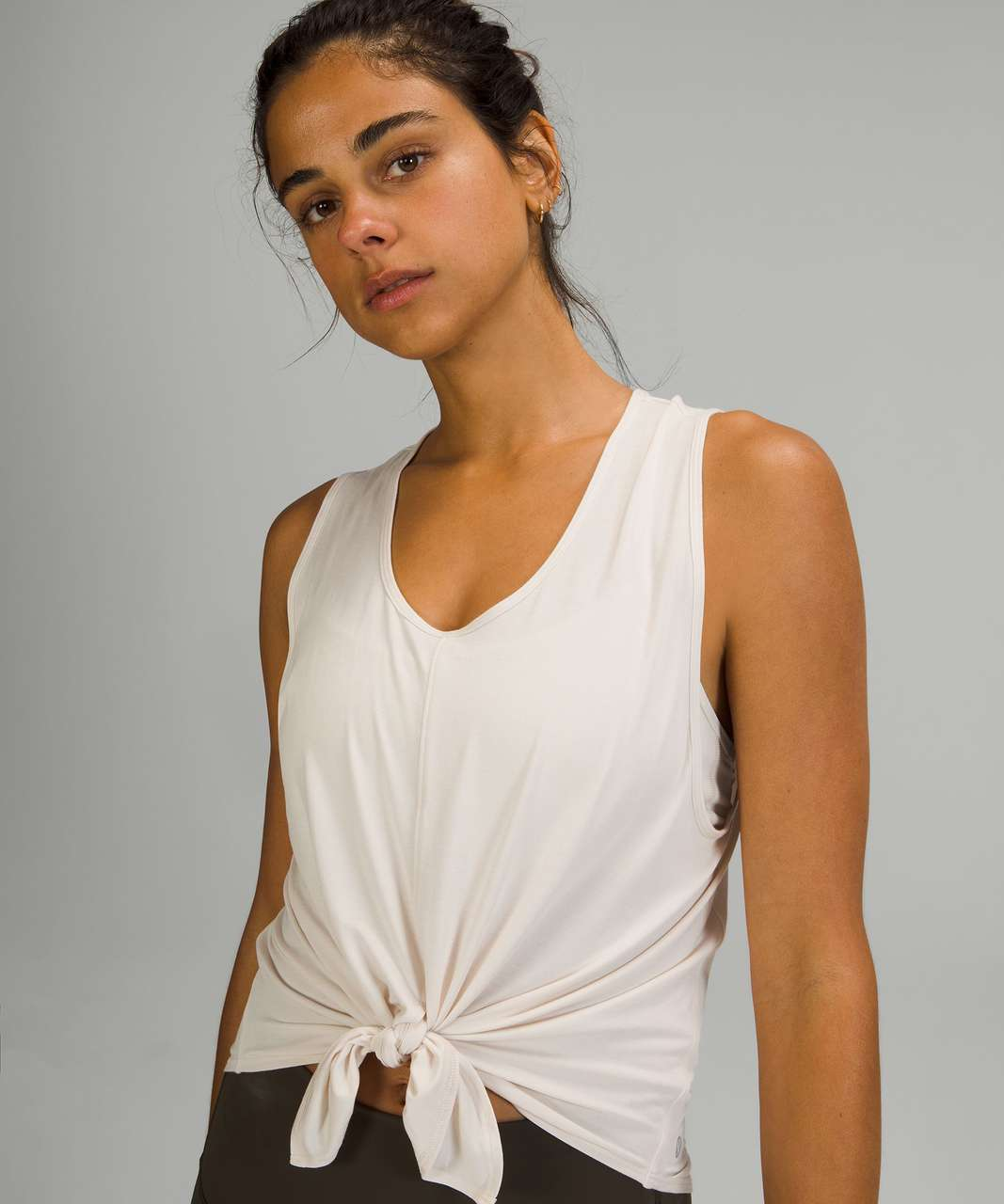 Lululemon Flow Y 2-in-1 Yoga Tank Top *Light Support, A–C Cups - White Opal