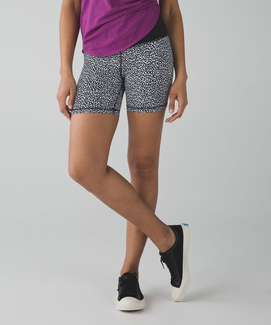 Lululemon Groove Short II (Regular) - Miss Mosaic Black / Black