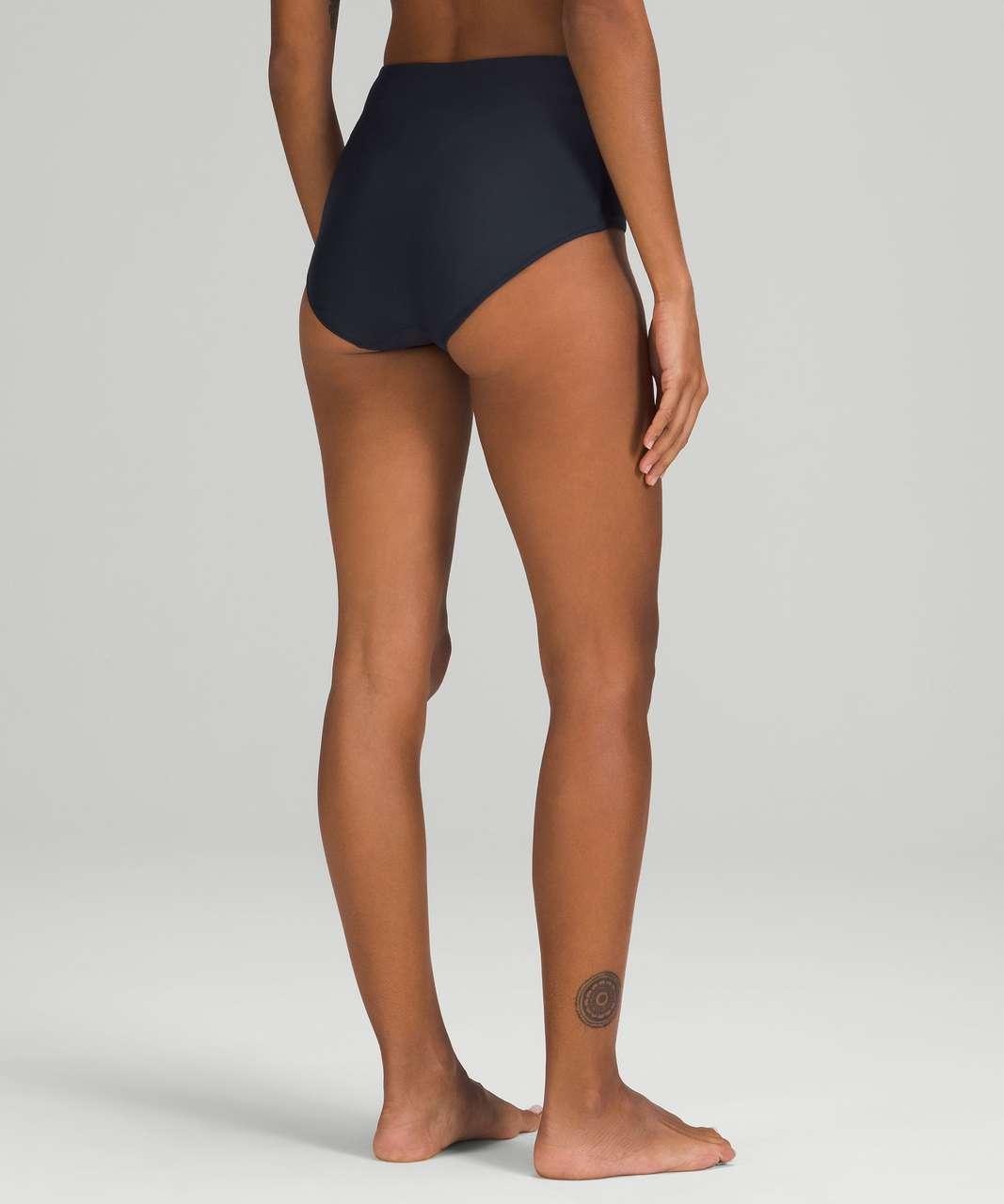 Lululemon Waterside High-Waisted Bikini Bottom *Medium Coverage - True Navy