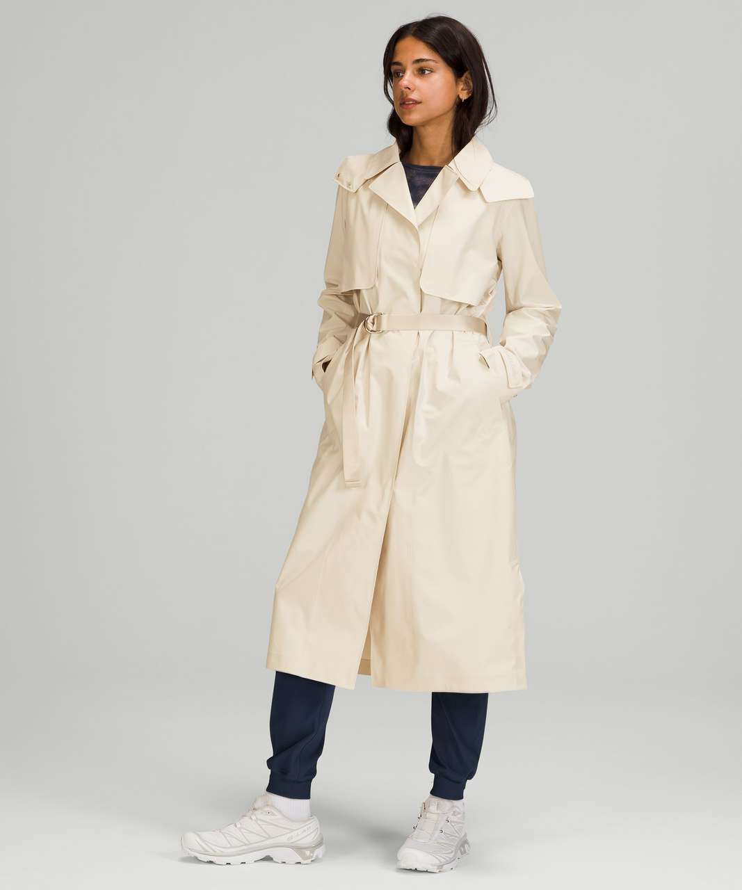 Lululemon Always There Trench Coat - White Opal