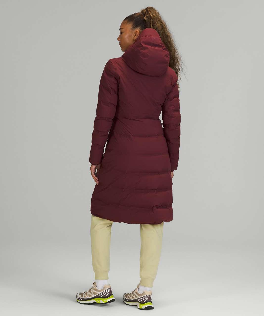 Lululemon Sleet Street Long Jacket - Red Merlot