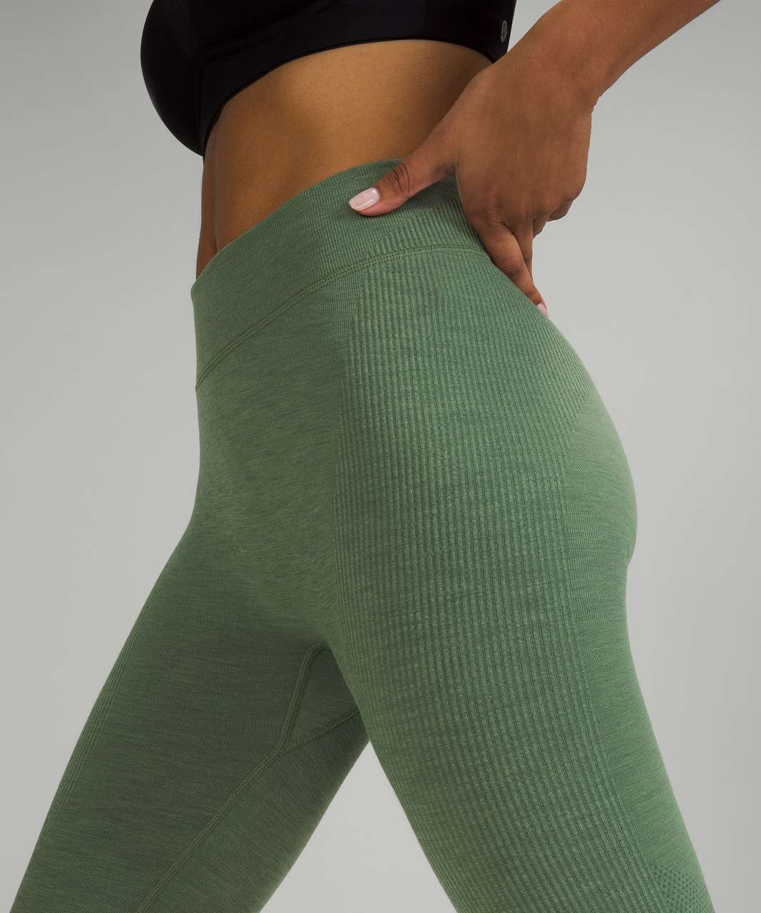 """Lululemon Keep the Heat Thermal High-Rise Tight 27"""" - Green Twill"""