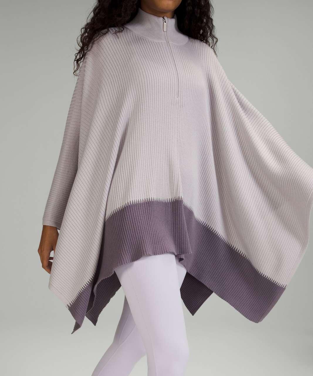 Lululemon On The Go Poncho - Chrome / Dusky Lavender