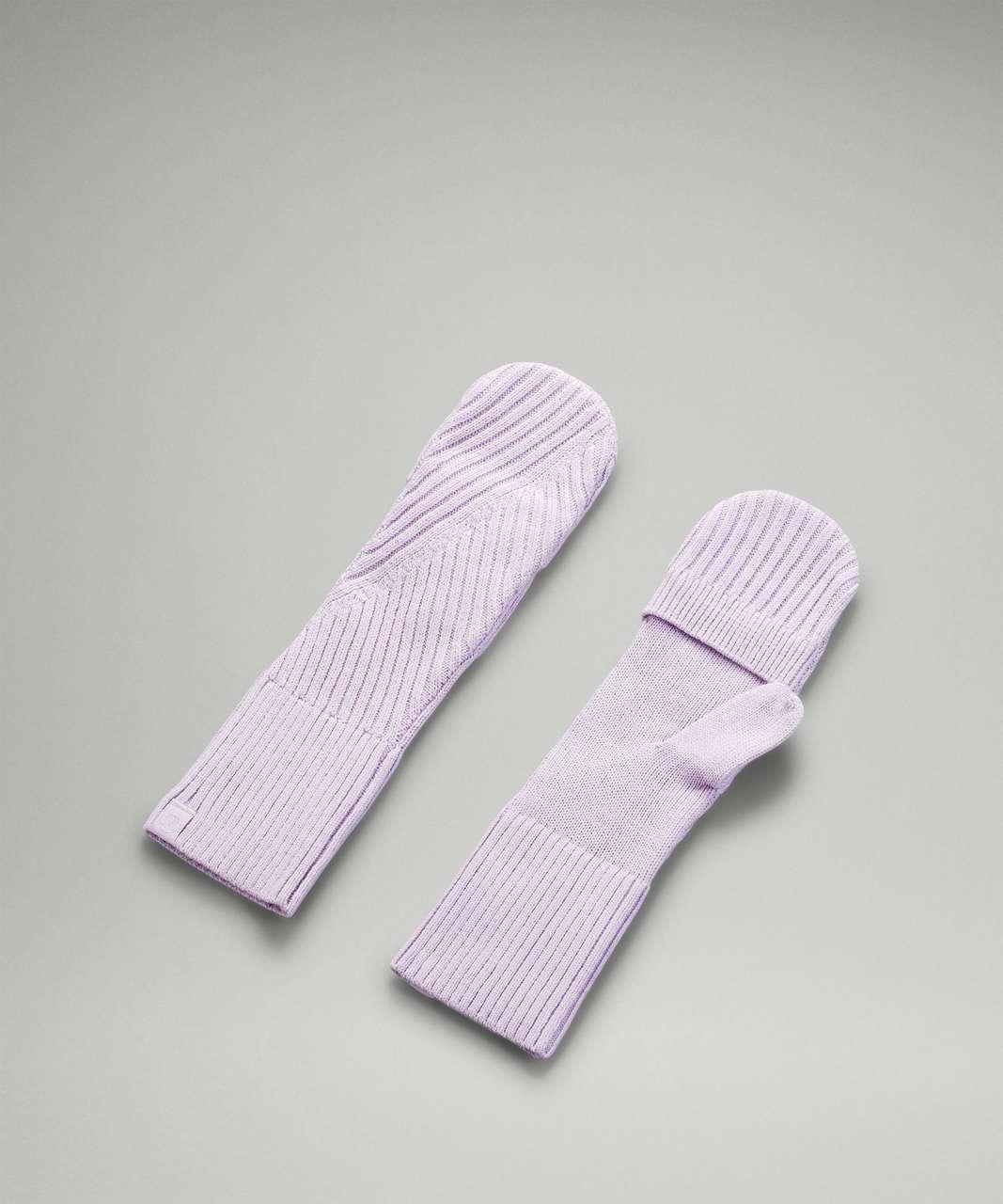 Lululemon Twist Knit Mittens - Lavender Dew
