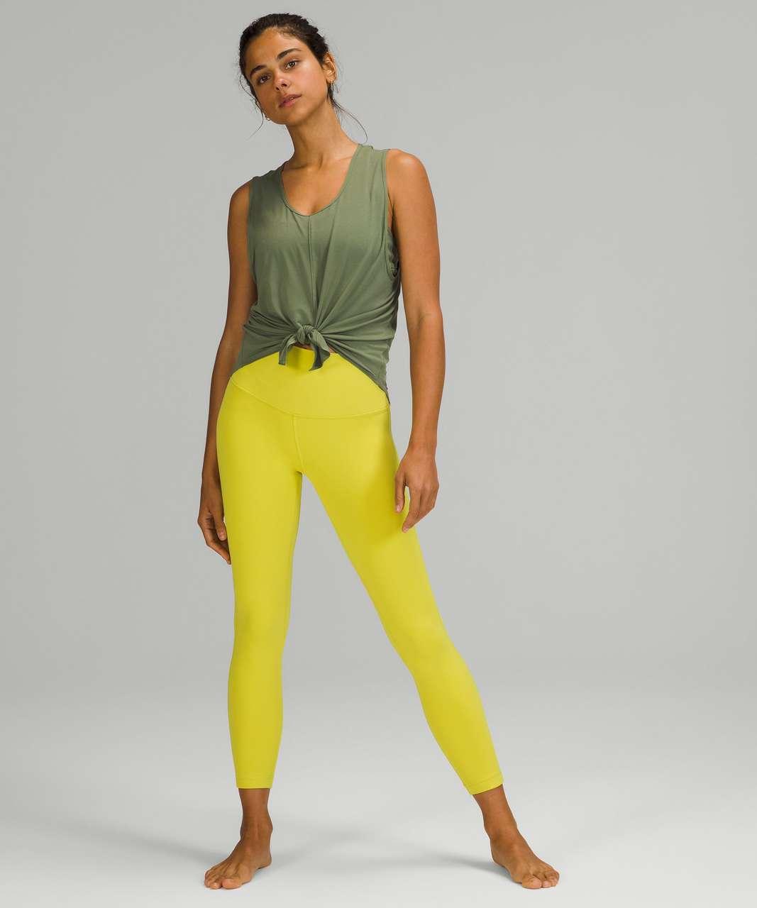 "Lululemon Align High-Rise Pant 25"" - Yellow Serpentine"