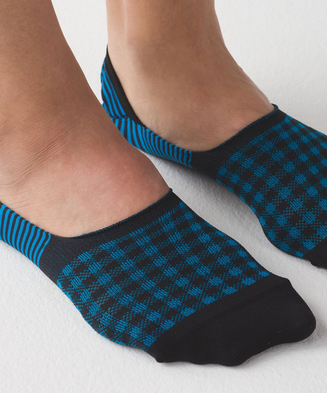Lululemon Secret Sock - Shocking Blue / Black / Ice Blue