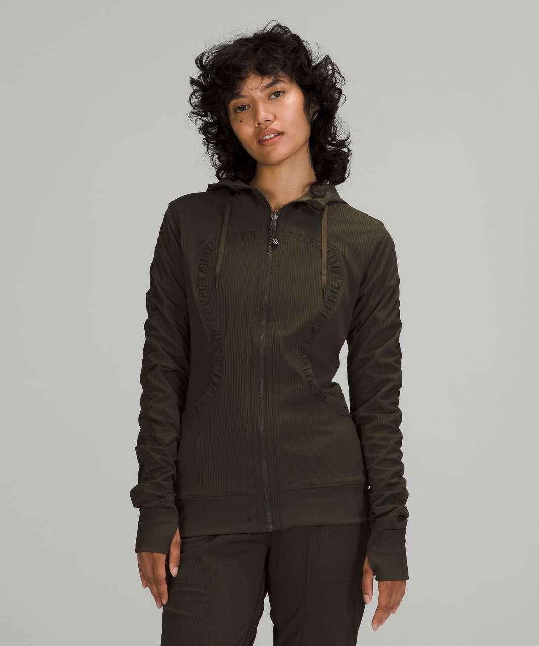 Lululemon Dance Studio Jacket - Dark Olive / Heathered Dark Olive