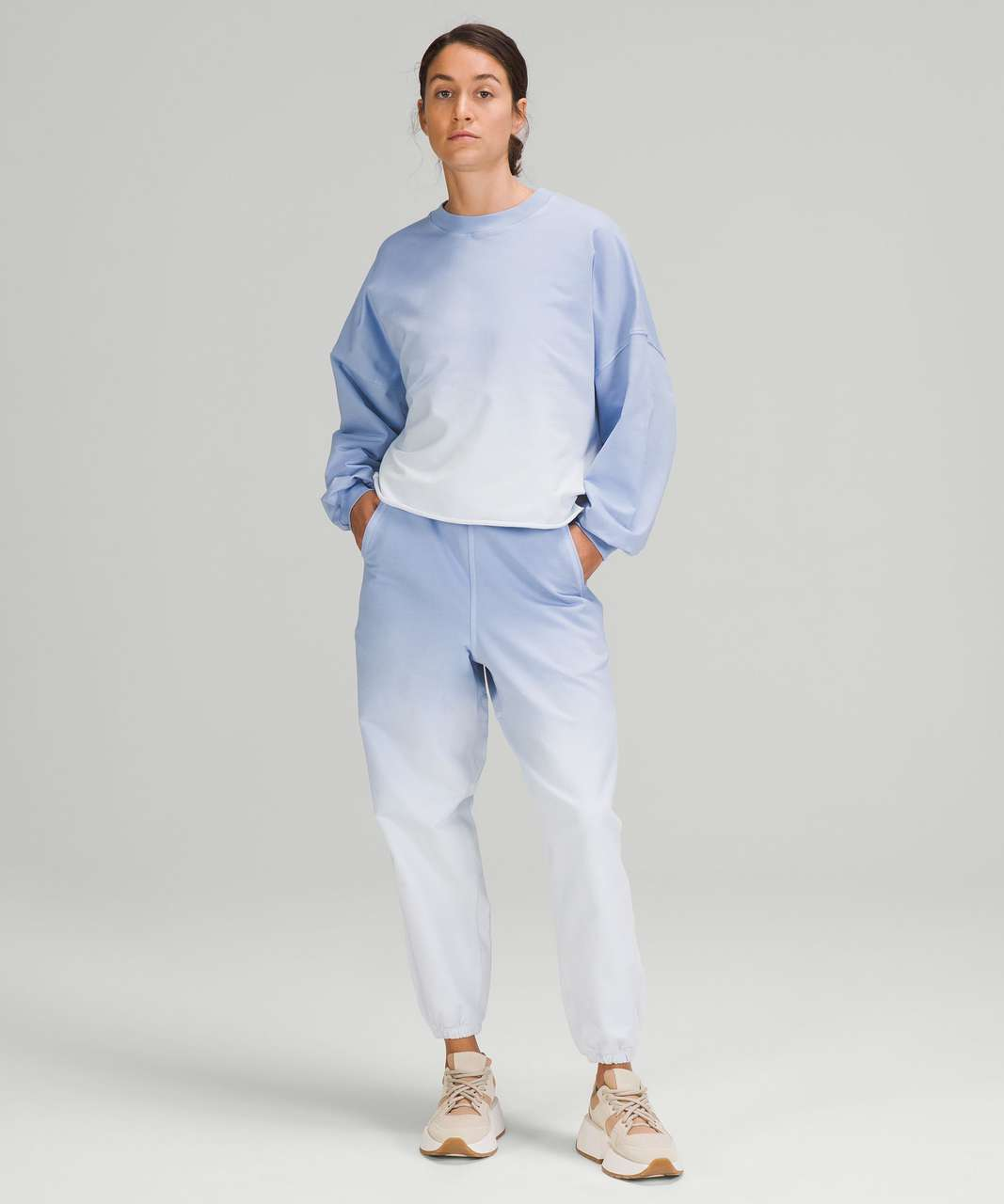 Lululemon LA Oversized Boxy Crew - Blue Linen Ombre Wash