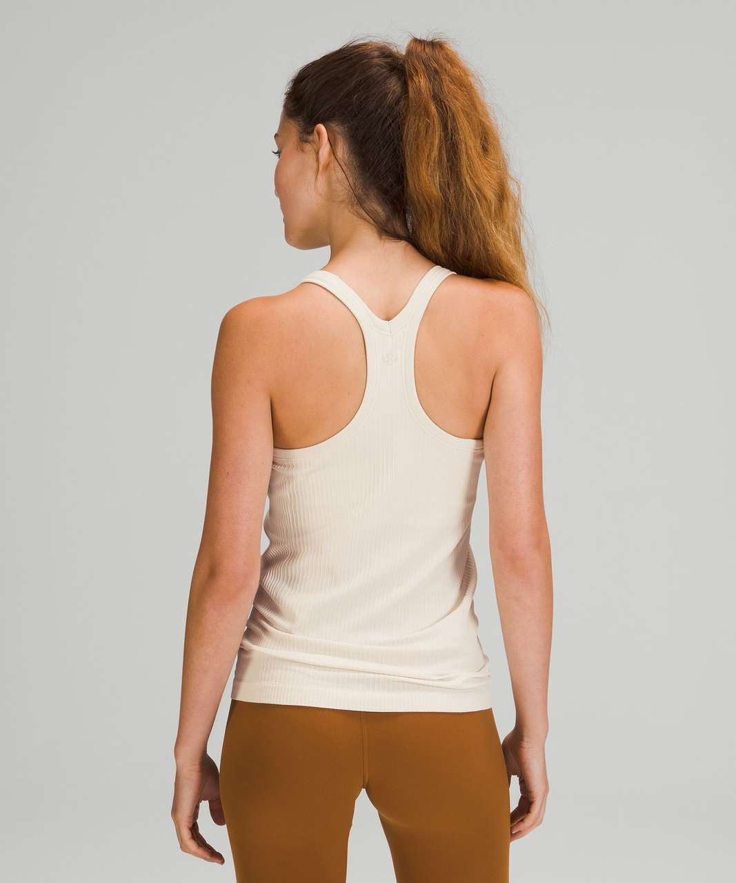 Lululemon Ebb to Street Shelf Bra Tank Top *Light Support - White Opal