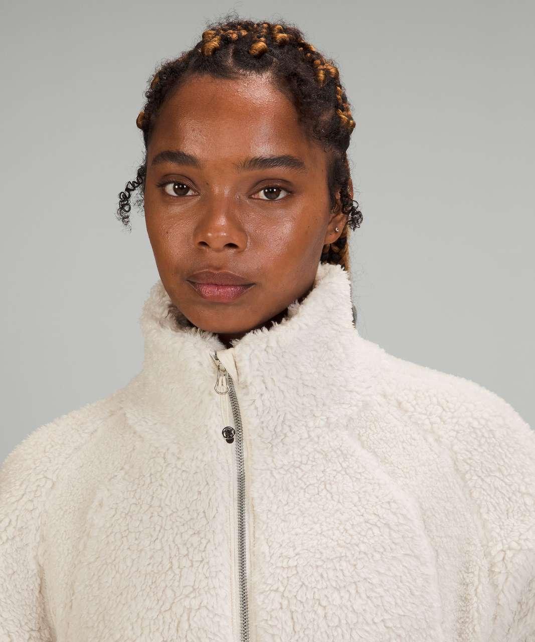 Lululemon Long Textured Fleece Jacket - White Opal