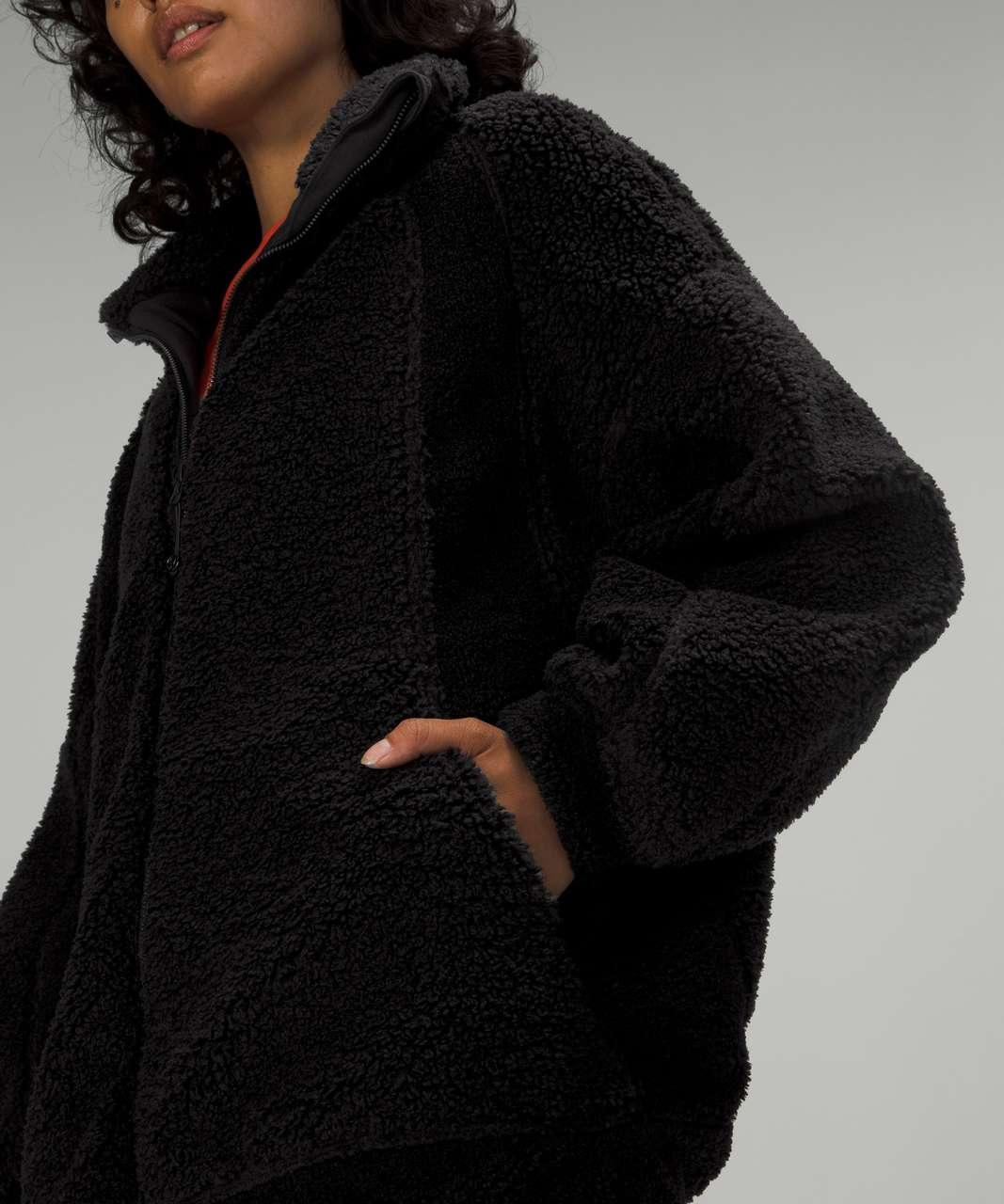 Lululemon Long Textured Fleece Jacket - Black
