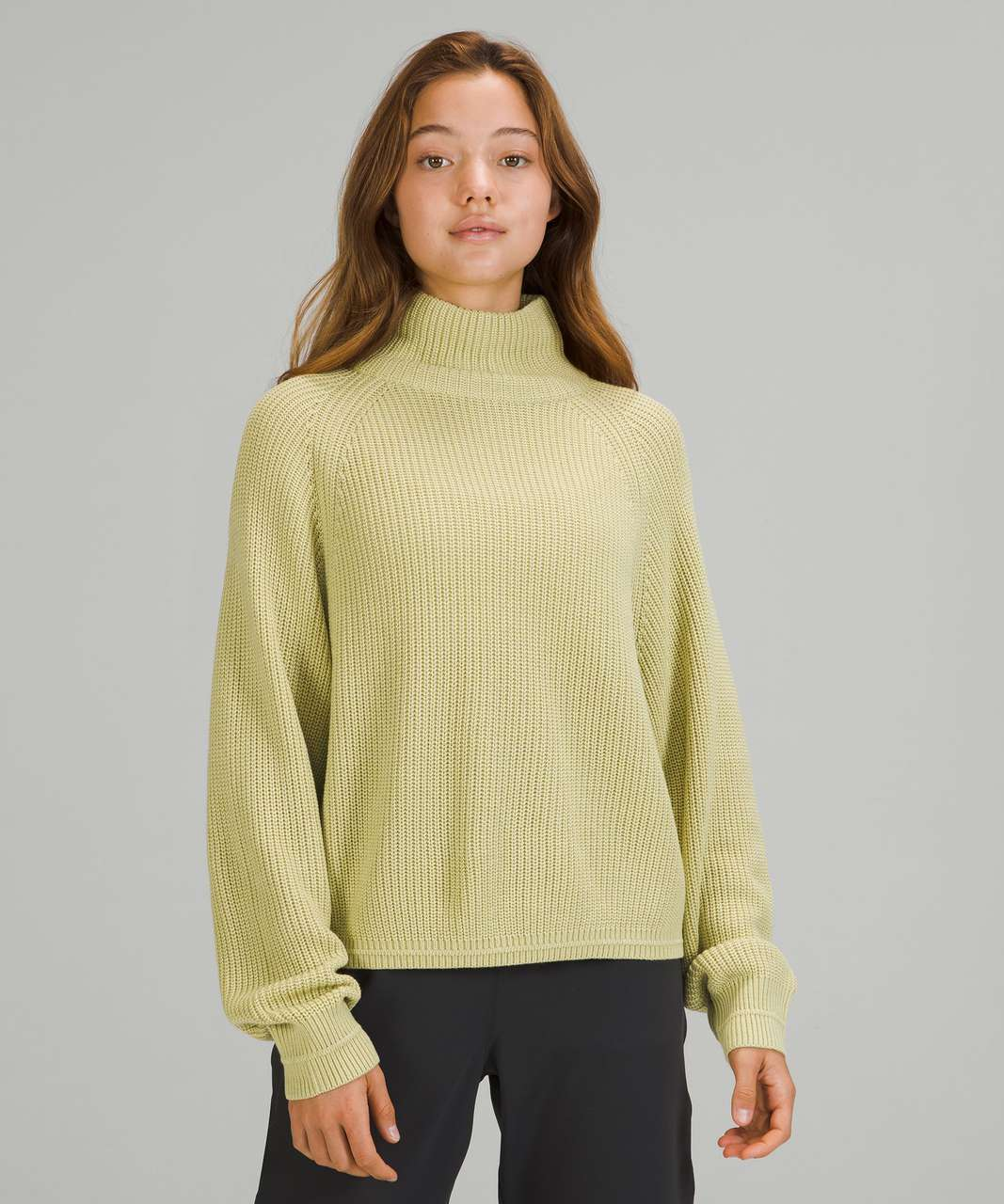 Lululemon Ribbed Turtleneck Sweater - Dew Green